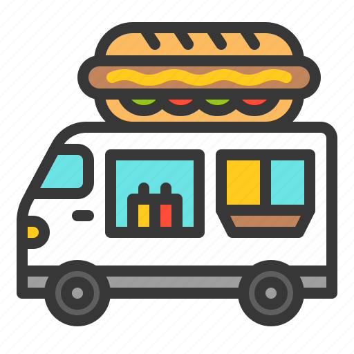 fast food, food, hot dog, shop, truck icon