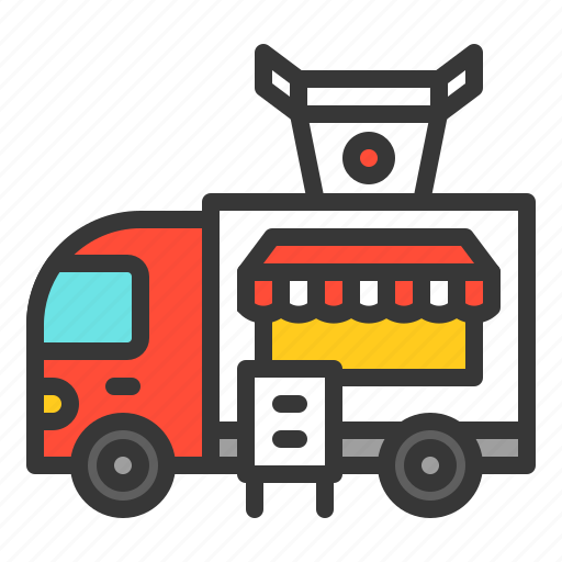 asia, asian food, food, shop, truck, vehicle icon