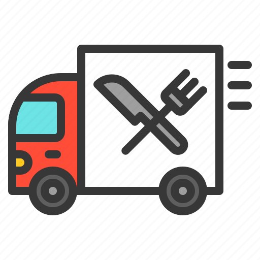 delivery, fast food, food, shop, transport, truck icon