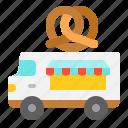 bakery, food, pretzel, truck, vehicle