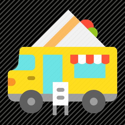 Bread, food, sandwich, truck icon - Download on Iconfinder