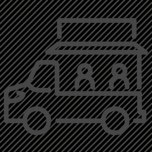 fair, flea market, food truck, merchants, street, trailer, truck icon