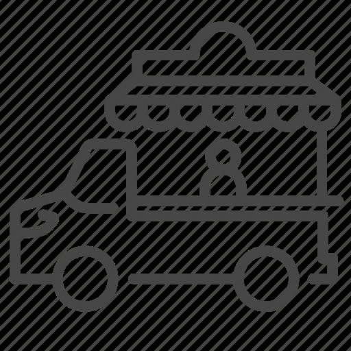 fair, flea market, food, food truck, street, trailer, truck icon
