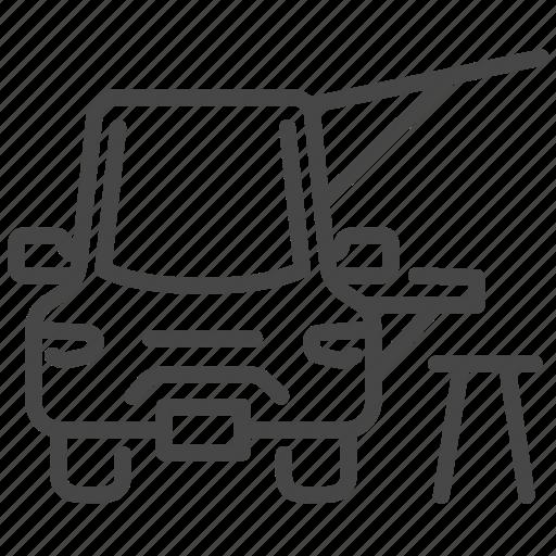 fair, flea market, food, food truck, seat, trailer, truck icon