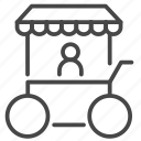 fair, flea market, food, street, trailer, truck icon