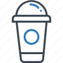 beverage, cappuccino, coffee, cold, container, drink icon