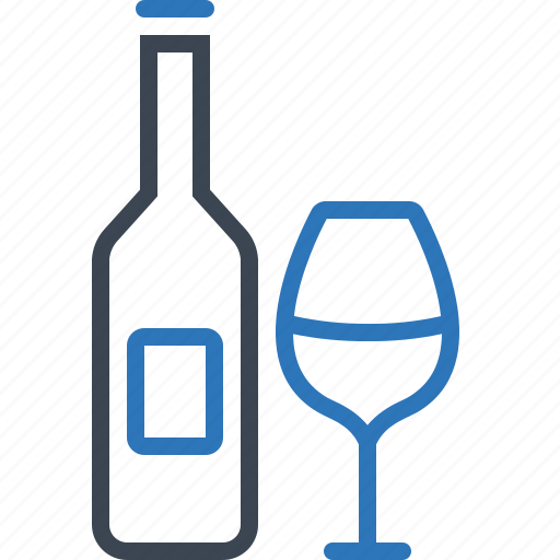alcohol, beverage, bottle, glass, liqueur, wine icon