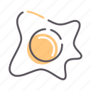 egg, fried, omelet, scrambled icon