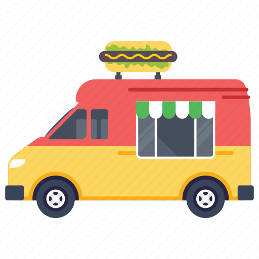 fast food delivery, fast food truck, food van, hot dog food truck, street food burger, street food festival icon