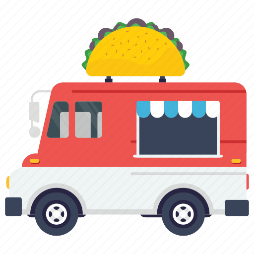 food van, mexican food, mexican food wagon, street food truck, taco food truck, tortilla delivery icon