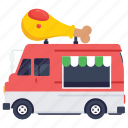 chicken transport, chicken van, fast food, fast food delivery, street food festival icon