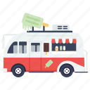 ice cream truck, street ice cream, ice cream van, ice cream, ice cream vendor icon