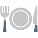 cutlery, dining, fork, knife, plate