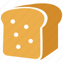 bread, breakfast, eating, food, healthy, toast icon