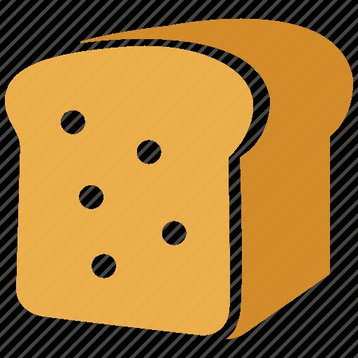 bread, breakfast, eating, food, healthy, toast icon
