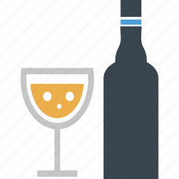 alcohol, beer, bottle, bottle and glass, drink, glass, wine icon