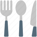 cutlery, fork, kitchen, knife, spoon, utensil icon