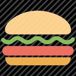 burger, cheeseburger, chicken burger, fastfood, hamburger, junk, meal icon