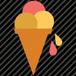 cone, cone ice cream, dessert, food, icecream, sweet icon
