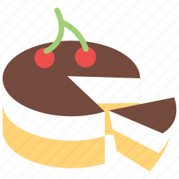 cake, cherry, cherry cake, dessert, food, sweet icon