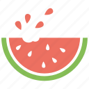 fruit, watermelon, watermelon slice, melon, food