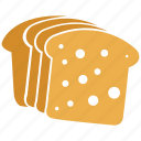 bakery, bread, breakfast, food, toasts icon