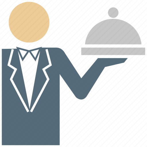 business, hotel service, restaurant, service, waiter icon