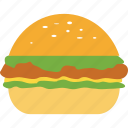 burger, cheeseburger, chicken burger, fastfood, hamburger icon
