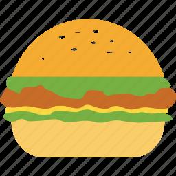 burger, cheeseburger, chicken burger, fastfood, hamburger icon