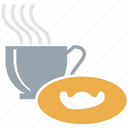 cookie, cup, cup and saucer, tea icon