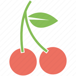cherry, food, fruit, healthy icon