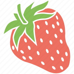 food, fresh strawberry, fruit, strawberry icon