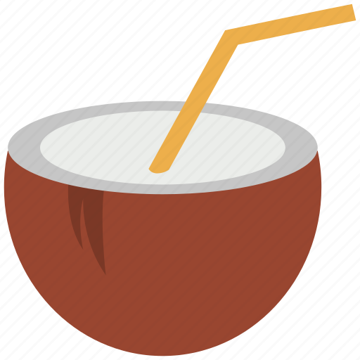 coconut, coconut water, food, fruit icon