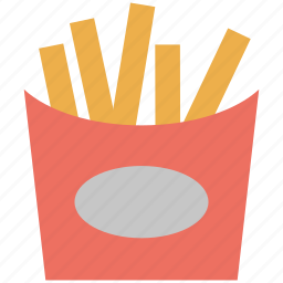 chips, finger chips, french fries, fried potatoes, fries icon