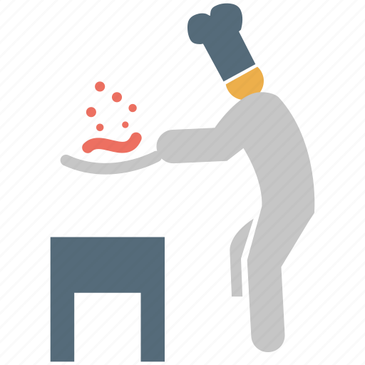 chef, chef cooking, cook, cooking icon