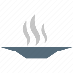 dish, hot food, hot plate, plate icon