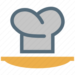 chef, cooking, cooking cap, cooking hat, hat and plate icon