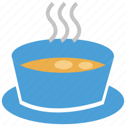 bowl, food, hot food, soup icon