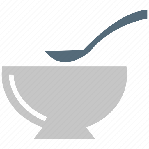 bowl, bowl and spoon, soup, spoon icon
