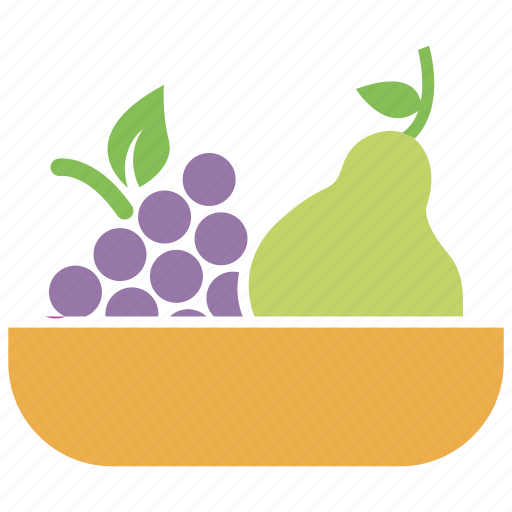 fruit basket, fruits, grapes, pear, pear and grapes icon