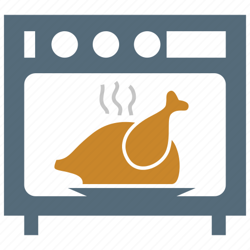 cooking, cooking range, oven, roasting, roasting chicken, roasting turkey, stove icon