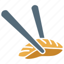 chopsticks, chopsticks and cookie, chopsticks food, cookie in chopsticks icon