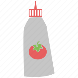 ketchup, ketchup sauce, sauce, tomato ketchup, tomato sauce icon