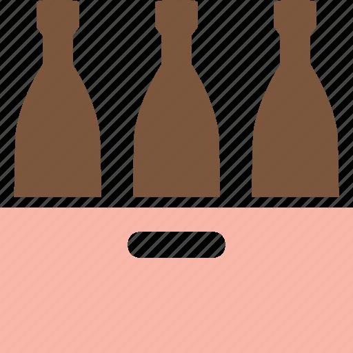 alcohol, beer bottles, beverage, bottle, drink, drinks, wine bottles icon