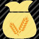 grain, sack, sack of grain, sack of wheat, wheat