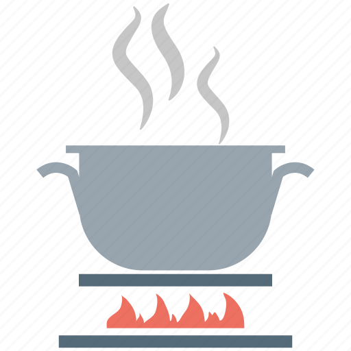 cooking, cooking on stove, cooking pot, fire, hot pot icon
