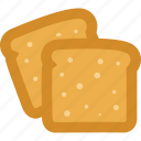 bakery, bread, breakfast, toasts icon
