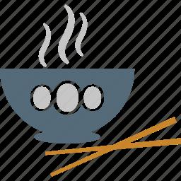 bowl, chopsticks, drink, food, noodles icon