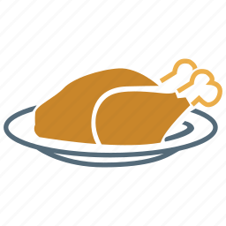 chicken drumstick, drumstick, food, meal, roast, roasted chicken, roasted turkey icon
