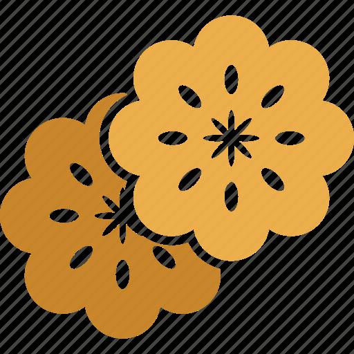 flowers, leaves, salad, salad leaves icon